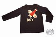 Baby t-shirtje met vliegtuig en naam