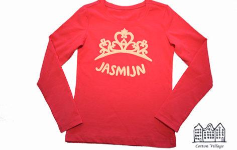 Koninklijk geappliceerd meisjes t-shirt